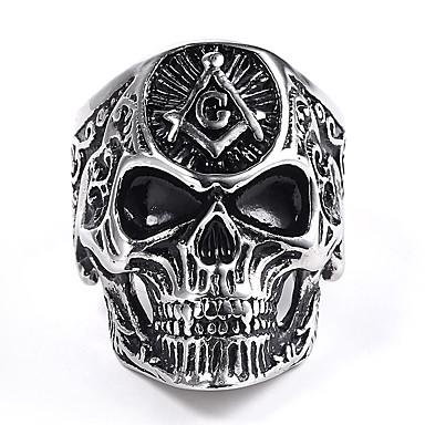 povoljno Ženski nakit-Muškarci Prsten 1pc Sive boje Legura Neregularan Punk Festival Jewelry
