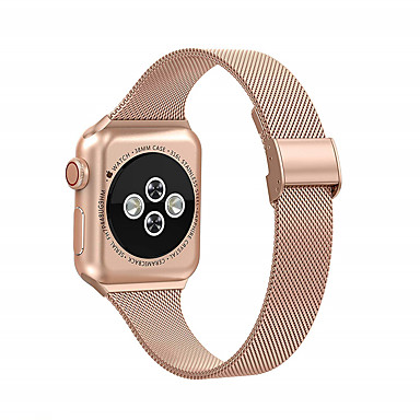 Недорогие Аксессуары для смарт-часов-Миланский ремешок для Apple Watch 6 SE 5 4 3 2 1 44 мм 42 мм 40 мм 38 мм сменный ремешок из нержавеющей стали