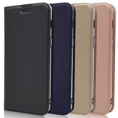 Недорогие Чехлы и кейсы для Galaxy А-Кейс для Назначение SSamsung Galaxy A5(2018) / A6 (2018) / Galaxy A7(2018) Бумажник для карт / со стендом / Флип Чехол Плитка / Однотонный Кожа PU