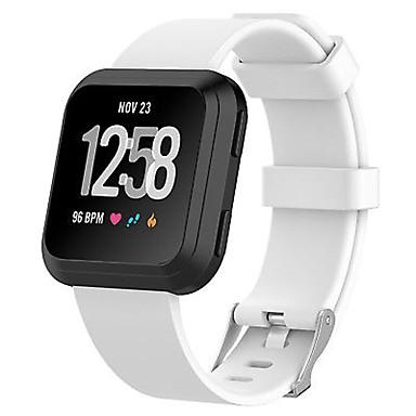 Недорогие Аксессуары для смарт-часов-Ремешок для часов для Fitbit Versa Fitbit Классическая застежка TPE Повязка на запястье