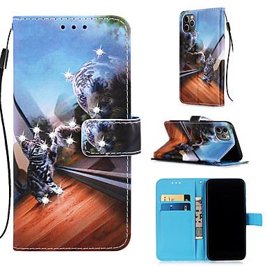 Недорогие Кейсы для iPhone 6-чехол для яблока iphone 11 / iphone 11 pro / iphone 11 pro max кошелек / держатель для карты / с подставкой для всего тела Чехлы из искусственной кожи для iphone xs max xr xs x 8 плюс 7 плюс 6 плюс 8