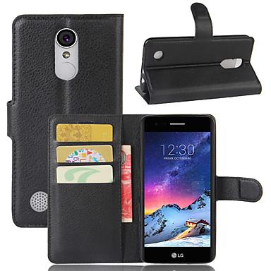 Недорогие Чехлы и кейсы для LG-Кейс для Назначение LG LG Q Stylus / LG X venture / LG X Style Кошелек / Бумажник для карт / Флип Чехол Однотонный Кожа PU / ТПУ