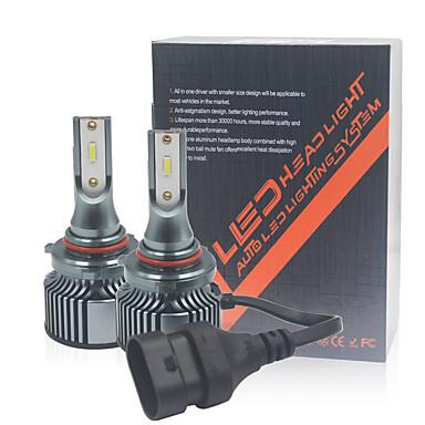 Недорогие Автомобильные фары-2 шт. H4 автомобиль светодиодная фара h1 h4 h11 9005 hb3 h7 9012 светодиодная лампа csp 10000lm 6000 К мини-размер автомобиля фара светодиодная белая
