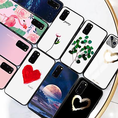 Недорогие Чехлы и кейсы для Galaxy Note-samsung карта сцены samsung galaxy s20 s20 plus s20 ультра красочная любовь нарисовал образец закаленное стекло задняя пластина рама тпу 2-в-1 анти-капля чехол для мобильного телефона jmgd