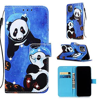 Недорогие Кейсы для iPhone 7 Plus-чехол для яблока iphone 11 / iphone 11 pro / iphone 11 pro max кошелек / держатель для карты / с подставкой для всего тела panda искусственная кожа для iphone xs max xr xs x 8 плюс 7 плюс 6 плюс 8 7
