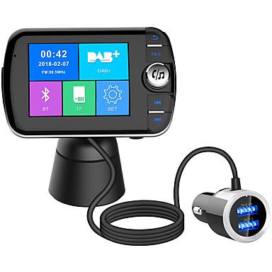 Недорогие Bluetooth гарнитуры для авто-Bluetooth 5.0 Комплект громкой связи Автомобильная гарнитура QC 3.0 / Автомобильный MP3-FM модулятор / FM приемники Автомобиль
