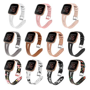 Недорогие Аксессуары для мобильных телефонов-модные часы наручные ремешок для замены для fitbit versa 2 туре кожаный ремешок