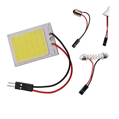 Недорогие Освещение салона авто-1 шт. Авто коб светодиодные панели свет t10 ba9s 31-41 мм гирлянда купол света постоянного тока 12 В 6 Вт белый с 3 адаптерами для автомобильного интерьера чтения карты лампы