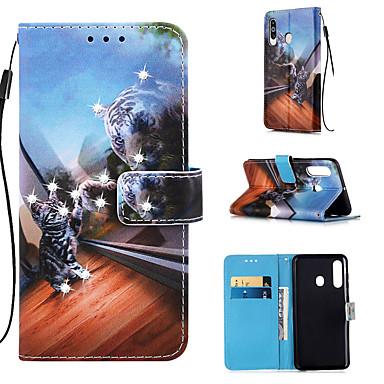 Недорогие Чехлы и кейсы для Galaxy S-чехол для samsung galaxy s9 / s9 plus / s8 plus кошелек / визитница / горный хрусталь чехлы для всего тела кошка pu кожа для galaxy s20 plus s20 ultra s20 a51 a71 a50 a40 a40 a30 a20 a10s note10 j4