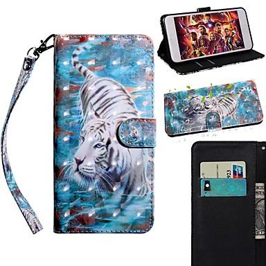 Недорогие Чехлы и кейсы для Galaxy S-Кейс для Назначение SSamsung Galaxy S9 / S9 Plus / S8 Plus Кошелек / Бумажник для карт / со стендом Чехол Животное Кожа PU / ТПУ