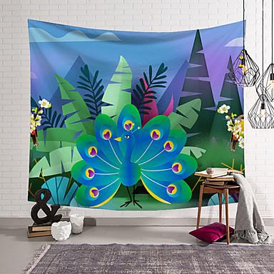 povoljno Zidni ukrasi-5 veličina prekrasne prirodne šume cvjetne ptice tiskane velike zidne tapiserije jeftine hipi zid viseće boemske zidne tapiserije mandala zidni umjetnički dekor