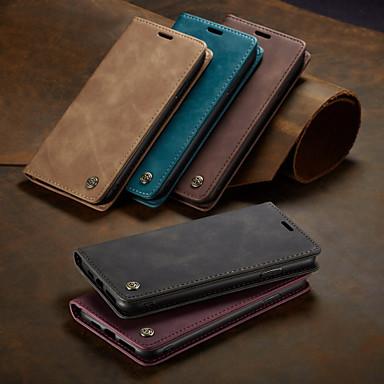 Недорогие Кейсы для iPhone-Caseme новый бизнес кожаный магнитный флип чехол для iphone xs max / x / xs / xr с крышкой подставки для слота для карт памяти