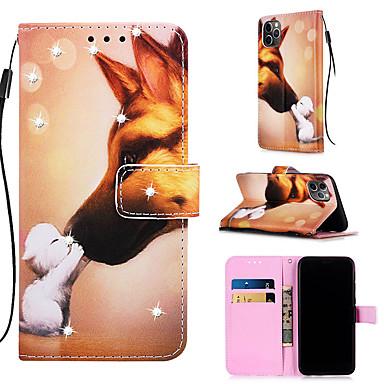 Недорогие Кейсы для iPhone 7 Plus-чехол для apple iphone 11 / iphone 11 pro / iphone 11 pro max кошелек / держатель карты / с подставкой для всего тела для собак искусственная кожа для iphone xs max xr xs x 8 плюс 7 плюс 6 плюс 8 7 6s