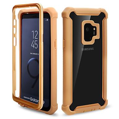 Недорогие Чехлы и кейсы для Galaxy S-чехол для samsung galaxy s9 / s9 plus зеркало задняя крышка сплошной цвет pu кожа