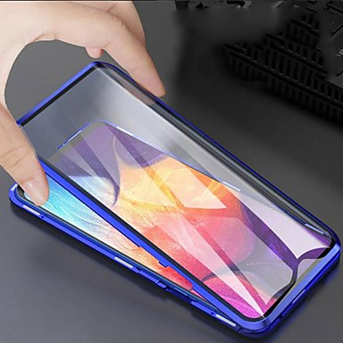 cheap Galaxy Note Series Cases / Covers-Magnetic Case For Samsung Galaxy A51 / M40S / A71 Double Sided Case Shockproof / Water Resistant / Transparent Tempered Glass Case For Samsung Galaxy S20 Plus / Note 10 Plus / S10 Plus / S20 Ultra