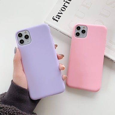 Недорогие Кейсы для iPhone-чехол для apple iphone 11 / iphone 11 pro / iphone 11 pro max противоударная задняя крышка сплошной цветной тпу