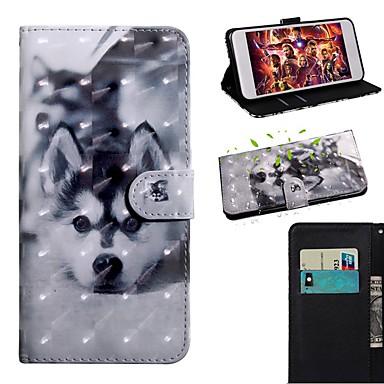 Недорогие Чехлы и кейсы для Galaxy S-Кейс для Назначение SSamsung Galaxy S9 / S9 Plus / S8 Plus Кошелек / Бумажник для карт / со стендом Чехол С собакой Кожа PU / ТПУ