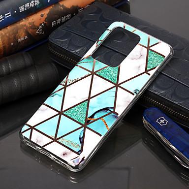 Недорогие Чехлы и кейсы для Galaxy S-Кейс для Назначение SSamsung Galaxy S9 / S9 Plus / S8 Plus Покрытие / С узором Кейс на заднюю панель Геометрический рисунок / Мрамор ТПУ