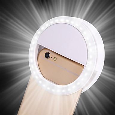 Недорогие Аксессуары для мобильных телефонов-светодиодное кольцо вспышки универсальный селфи свет портативный мобильный телефон 36 светодиодов селфи лампа светящийся зажим для кольца для iphone 8 7 6 плюс Samsung