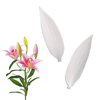 ieftine Ustensile & Gadget-uri de Copt-simulare floare de crin frunze mucegai fondant tort mucegai silicon instrumente de coacere acasă