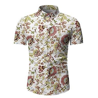povoljno Muške košulje-Majica Muškarci - Osnovni Dnevno Geometrijski oblici Crn