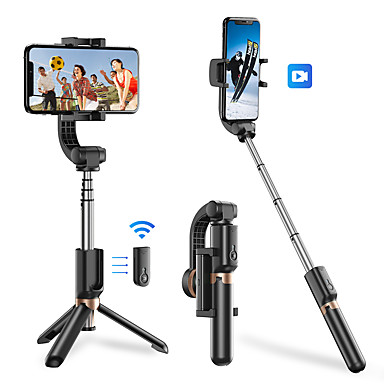 cheap Bluetooth selfie stick-APEXEL Mobile Phone Stabilizer Anti-shake Handheld Gimbal Selfie Stick Bluetooth Extendable Selfie Stick Tripod with Wireless Remote Selfie Stick for iPhone 11 Pro Max/11 Pro/11/XS/XS Max/XR/X