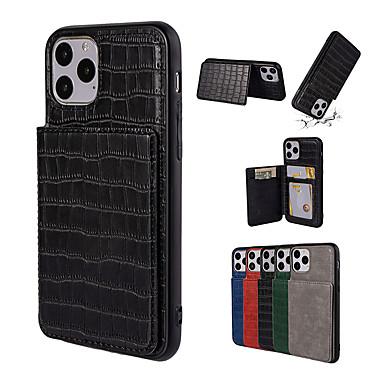 Недорогие Кейсы для iPhone-чехол для iphone 11pro max крокодил карты кошелек чехол для телефона xs max небьющийся открытый чехол для iphone 6/7 / 8plus крышка