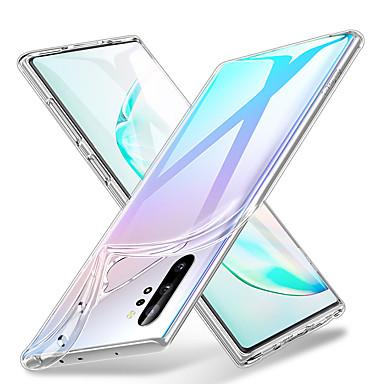 Недорогие Чехол Samsung-Кейс для Назначение SSamsung Galaxy Защита от влаги / Прозрачный Чехол Прозрачный ТПУ