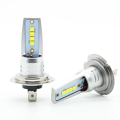 Недорогие Противотуманные фары-2шт 40w h7 противотуманные фары светодиодные лампы головного света автомобиля свет 8 светодиодов авто светодиодные фары 12-24 В белый цвет
