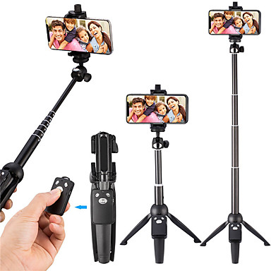 billige Trefods selfie stick-selfie stick stativ 40-tommer trådløs fjernbetjening og stativ monopod til iphone x 8/8 plus xiaomi huawei bluetooth selfie stick