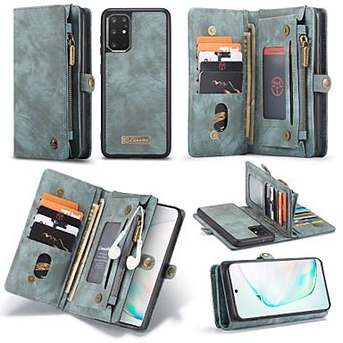 voordelige Galaxy Note-serie hoesjes / covers-samsung s20plus mobiele telefoonhoes plus portemonnee geïntegreerde flip-type lederen tas note10plus anti-drop en schokbestendig 11 kaartsleuven 3 portemonnees 1 ritstas a70 beschermhoes