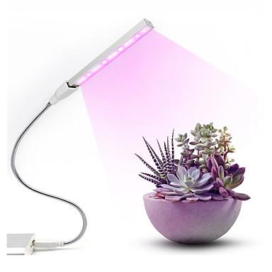 baratos Lâmpadas de LED-1 pcs led cresce a luz usb dc 5 v fitolampy para plantas vermelho azul led planta cresce lâmpadas de luz espectro completo levou crescer luzes lâmpada phytolamp
