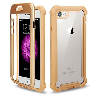 Недорогие Кейсы для iPhone-чехол для apple iphone 7 / iphone 6 plus / iphone 6 зеркало задняя крышка сплошной цвет искусственная кожа
