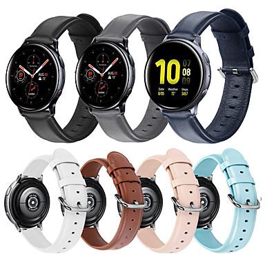 Недорогие Часы для Samsung-Ремешок для часов для Gear S2 / Samsung Galaxy Watch 42 / Samsung Galaxy Active Samsung Galaxy Кожаный ремешок / Современная застежка / Бизнес группа Стеганная ПУ кожа Повязка на запястье