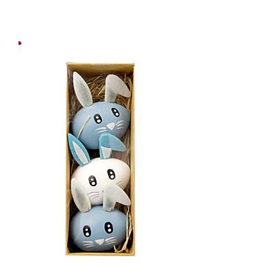 povoljno Dekoracija doma-sretan uskrsni zeko jaje praznični ukrasi predmeti 1set