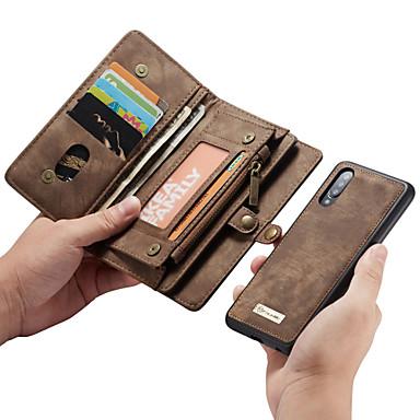 abordables Funda Samsung-caseme multifuncional de lujo de negocios de cuero flip estuche magnético para samsung galaxy a70 / a50 / a40 / a30 / a20 / a20e con ranura para tarjeta de bolsillo soporte 2-en-1 cubierta desmontable