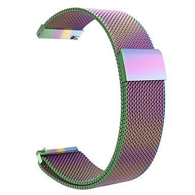 Недорогие Аксессуары для смарт-часов-Ремешок для часов для Gear S3 Classic / Vivoactive 3 / Samsung Galaxy Watch 46 Samsung Galaxy / Huawei / Garmin Миланский ремешок Нержавеющая сталь Повязка на запястье