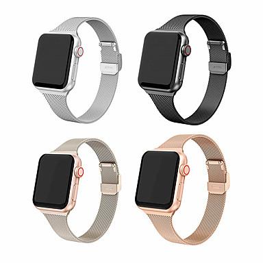 Недорогие Аксессуары для смарт-часов-миланский ремешок для яблочных часов iwatch 5 ремешок 42 / 44мм 38 / 40мм ремешок из нержавеющей