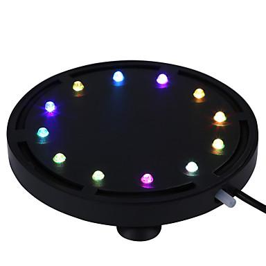 رخيصةأون LED وإضاءة-أدى إضاءة الحوض غاطسة أدى ضوء فقاعة الهواء الديكور الحوض أدى الغوص مصباح خزان الأسماك للماء مصباح تحت الماء