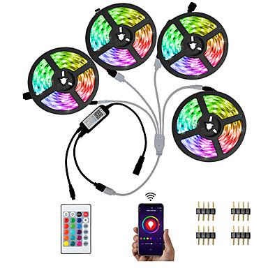 ieftine LED-uri & Iluminat-LED-uri LED led kwb 5050 20m (4 x 5m) 600 led-uri controlate telefon inteligent RGB pentru acasă& amp