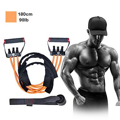 baratos Faixas para Fitness-Faixas para Exercícios de Resistência Látex Alongamento Treino de Resistência Fitness Exercite-se Para Homens