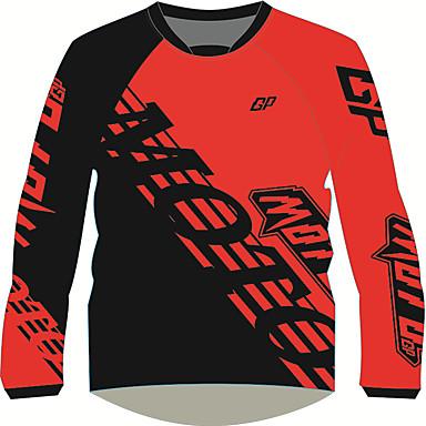 Недорогие Мотоциклетные куртки-moto gp мотоцикл велоспорт рубашка красно-черная дышащая быстросохнущая полиэстер футболка с длинными рукавами локомотив