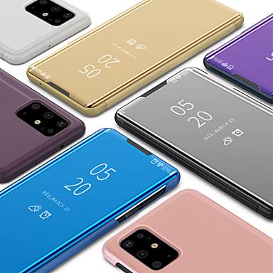 Недорогие Чехлы и кейсы для Galaxy S-чехол для samsung galaxy s20 s20 plus с подставкой и флип чехлом для всего тела однотонная искусственная кожа pc s10 s10e s10 plus s9 s9 plus s8 s8 plus