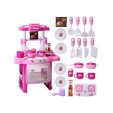 ieftine Cadouri-Seturi de jucărie de bucătărie Mâncare Copii Joacă PVC Pentru copii Băieți Fete Jucarii Cadou