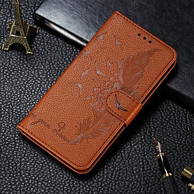 Недорогие Чехлы и кейсы для Galaxy А-Кейс для Назначение SSamsung Galaxy S9 / S9 Plus / A6 (2018) Кошелек / Бумажник для карт / со стендом Чехол  Перья Кожа PU