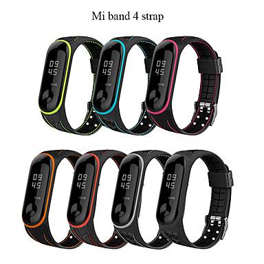 Недорогие Аксессуары для смарт-часов-mi band 4 ремень correa mi band 3 дышащий ремень для xiaomi band 4 мульти красочный спортивный ремешок для xiaomi band 3