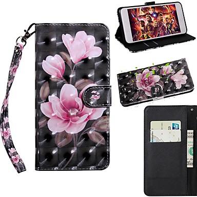 Недорогие Чехлы и кейсы для Galaxy S-Кейс для Назначение SSamsung Galaxy S9 / S9 Plus / S8 Plus Кошелек / Бумажник для карт / со стендом Чехол Цветы Кожа PU / ТПУ