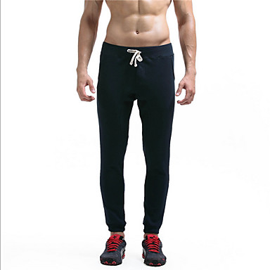 povoljno Sportske hlače-Muškarci Sportski Sportske hlače Hlače - Jednobojni Navy Plava Crn US32 / UK32 / EU40 US34 / UK34 / EU42 US36 / UK36 / EU44