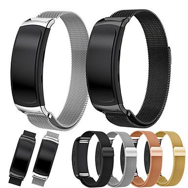 Недорогие Часы для Samsung-Ремешок для часов для Gear Fit 2 Samsung Galaxy Спортивный ремешок / Миланский ремешок / Современная застежка Нержавеющая сталь Повязка на запястье
