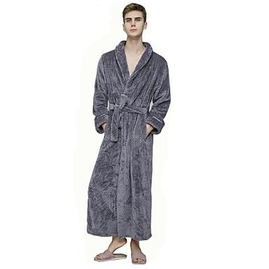 povoljno Muške hlače-Muškarci Kolaž Ogrtač Noćno rublje Jednobojni Lila-roza Obala purpurna boja M L XL